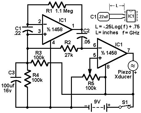 Economy radar detector-Circuit diagram