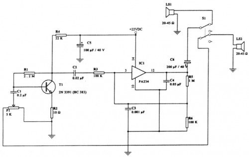 Intercommunication (Intercom)-Circuit diagram