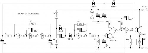 Keys Finder-Circuit diagram