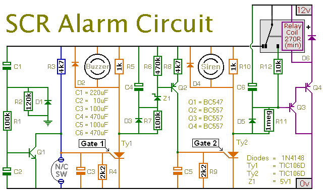 An expandable scr based burglar alarm circuit diagram and instructions schematic diagram cheapraybanclubmaster Gallery