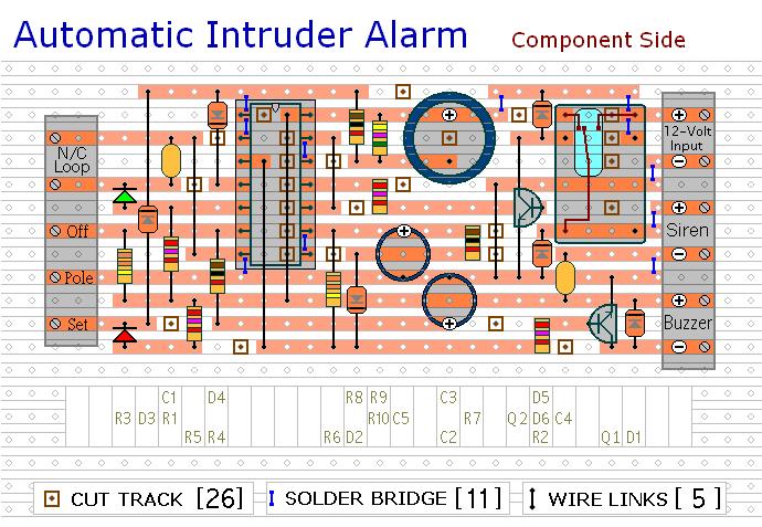 a simpler cmos single zone alarm circuit diagram and instructions rh hobby circuits com Viper Alarm Wiring Diagram Doorbell Circuit Diagram