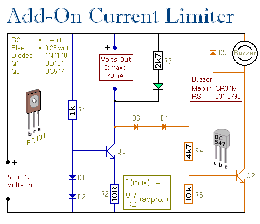 rio current shunt wiring diagram an add-on current limiter for your psu circuit diagram and ... current schematic wiring diagram #3