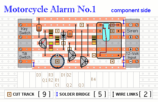 Miraculous A Transistor Based Motorcycle Alarm Circuit Diagram And Instructions Wiring Database Scataclesi4X4Andersnl