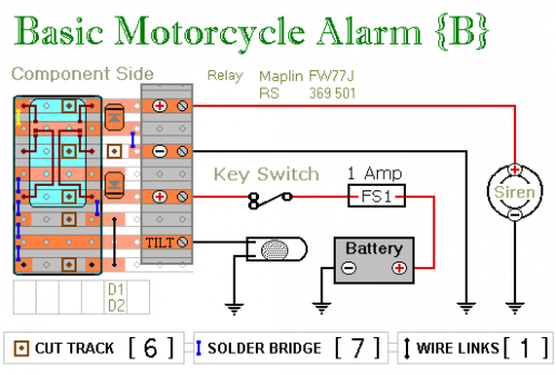 Two Simple Relay Based Motorcycle Alarms