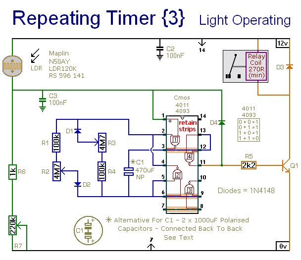 repeating timer no3 circuit diagram and instructions rh hobby circuits com