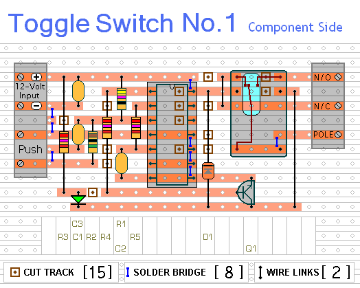 Electronic Toggle Switch No1    circuit       diagram    and instructions