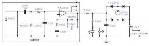 Seismic detector-Circuit diagram