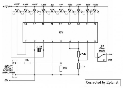 Sound Level Meter-Circuit diagram