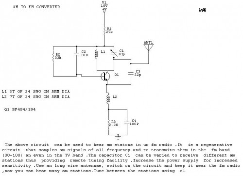 AM To FM converter
