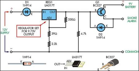smoke alarm battery life extender circuit diagram and instructions rh hobby circuits com
