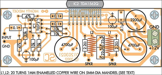 36 watt audio power amplifier using tda1562q circuit diagram and36 Watt Audio Power Amplifier Based On Tda1562q #7