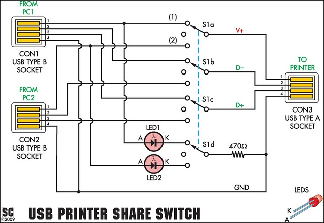circuit diagram wireless printer usb printer share switch circuit project circuit diagram ... #8