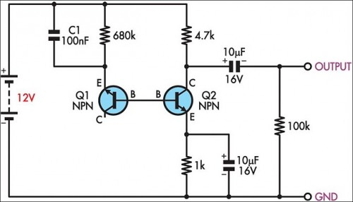 Simple White Noise Generator-Circuit diagram