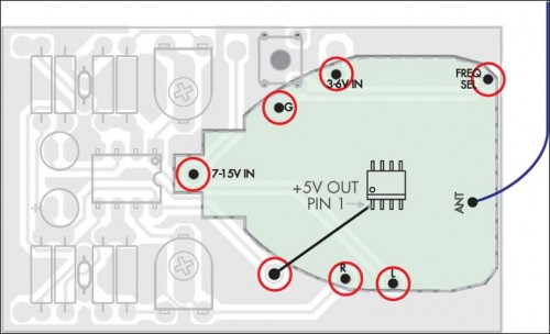 Quality Stereo Wireless Microphone or Audio Link pcb parts layout 2