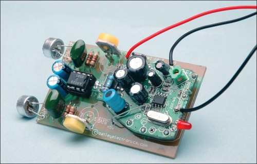 Quality Stereo Wireless Microphone or Audio Link pcb