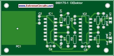 Simple Capacitive Touch Sensor-PCB layout